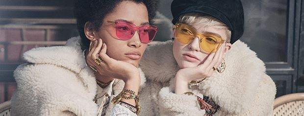 Two women wearing Dior eyewear